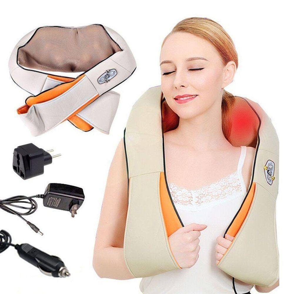 Электрический массажёр роликовый с инфракрасным излучением для шеи и плеч Massager of Neck Kneading