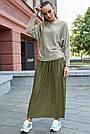Женский нарядный джемпер, р.42-48, вязка с люрексом, цвет золото, фото 2