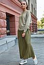 Женский нарядный джемпер, р.42-48, вязка с люрексом, цвет золото, фото 4