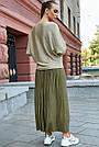 Женский нарядный джемпер, р.42-48, вязка с люрексом, цвет золото, фото 5