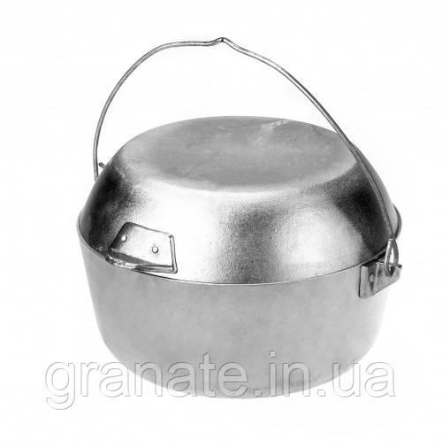 Походный котелок (казан) с крышкой - сковородой 5 л