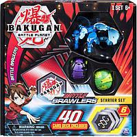Стартовый игровой набориз 3БакугановBakugan, Battle Starter Set Creatures, Aquos, Garganoid