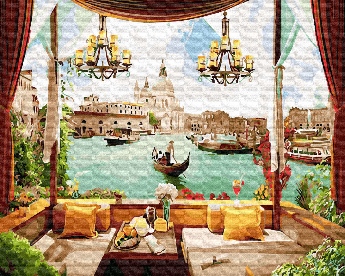 "Картина по номерам. Brushme ""Окно в Венецию"" GX30155"