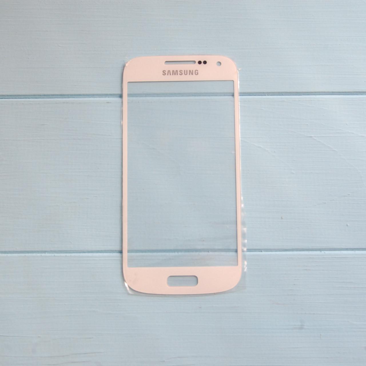 Стекло корпуса для Samsung I9190 Galaxy S4 mini, I9192 Galaxy S4 Mini Duos, I9195 Galaxy S4 mini white
