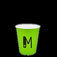 "Бумажный стакан ""M"" Зеленый 250мл. Евро 50шт/уп (1ящ/20уп/1000шт) под крышку КВ79/""РОМБ"" 79"