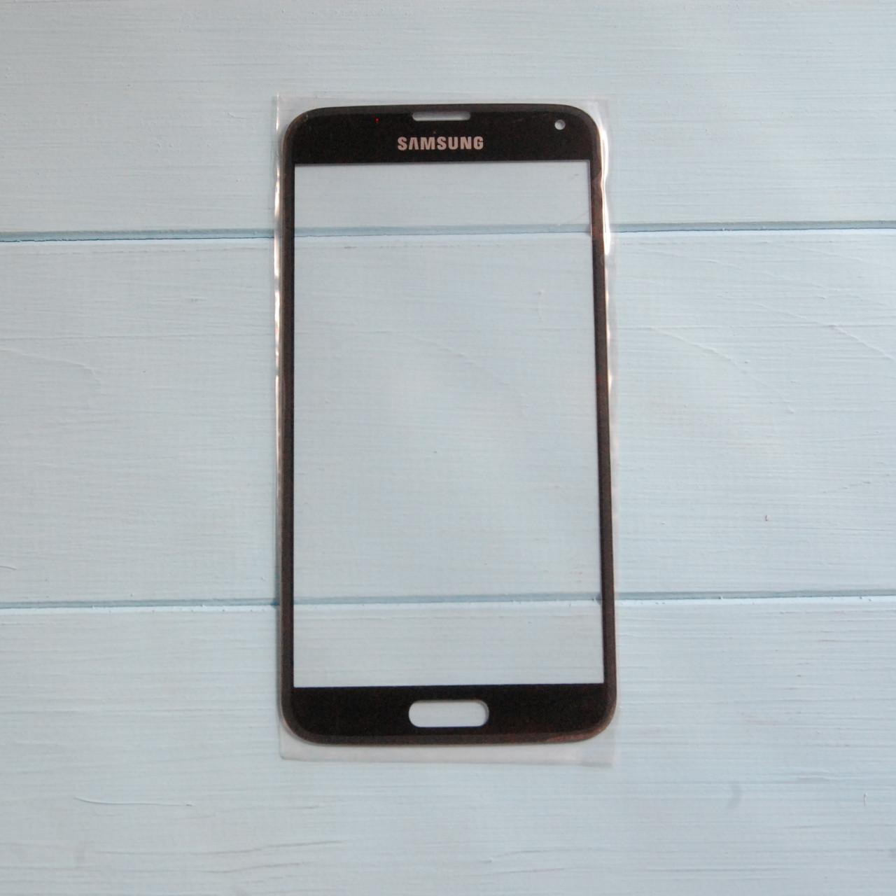 Стекло корпуса для Samsung G900F Galaxy S5, G900H Galaxy S5, G900T Galaxy S5, черное