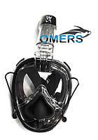 Полнолицевая маска Bs Diver MONKEY Black для сноркелинга (с возможностью продувки)