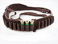 Патронташ кожаный открытый на 24 патрона Ретро, фото 1