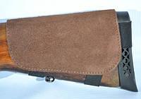 Патронташ на приклад замшевий коричневий