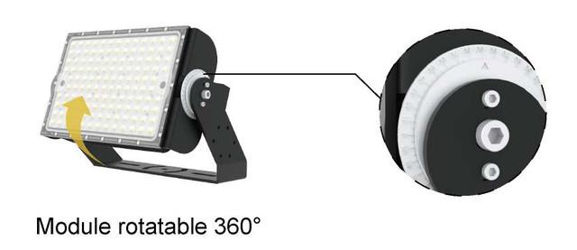 Прожектор светодиодный СО Т600. поворотный угол 360