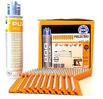 Пистолетные гвозди для SPIT Pulsa 800E, 800P+ (500 шт + баллон с чипом)