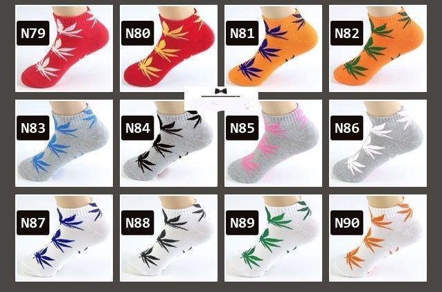НАБОР Носков в КОРОБКЕ - HUF -ОРИГИНАЛ -3шт -Низкие (короткие) носки с листом конопли (Шкарпетки)