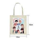 Эко-сумка с принтом BTS (2)