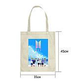 Эко-сумка с принтом БТС (BTS) (4)