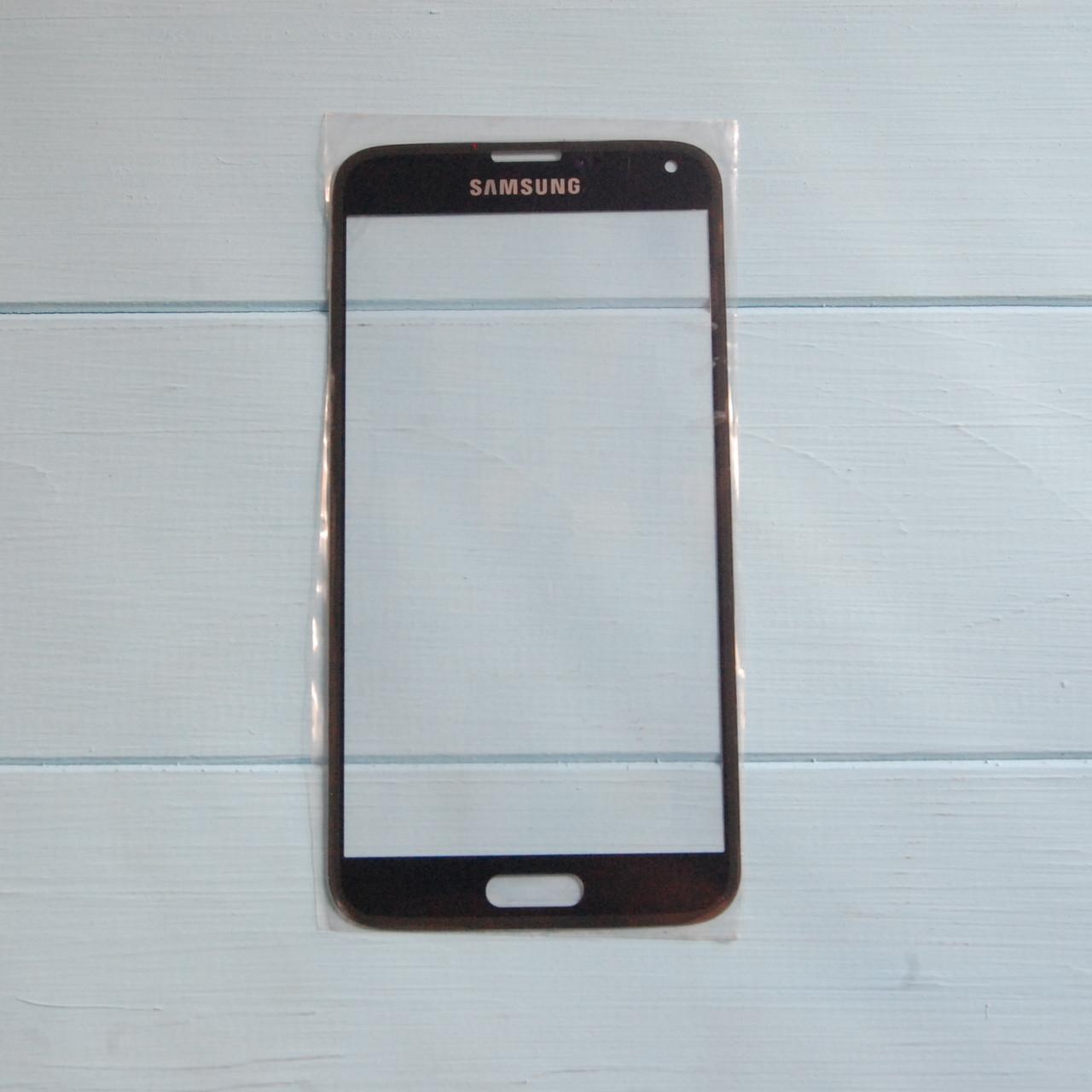 Стекло корпуса для Samsung G900F Galaxy S5, G900H Galaxy S5, G900T Galaxy S5, синее