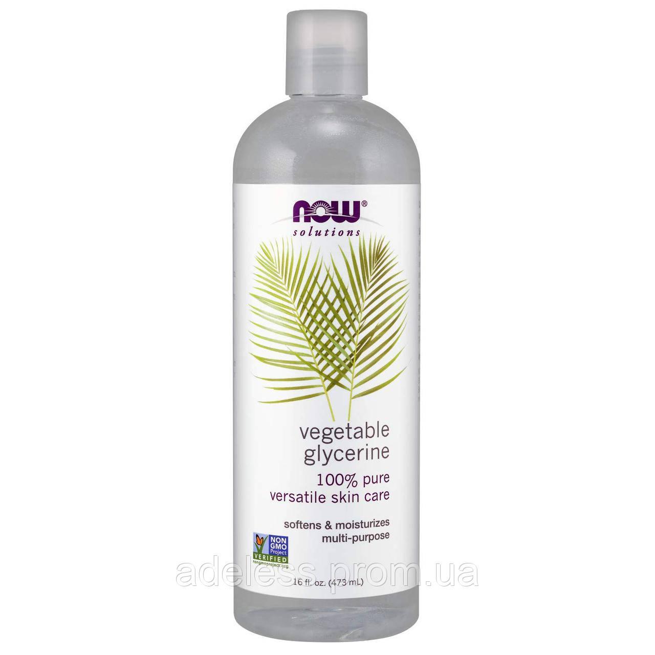 Растительный глицерин NOW Foods Glycerin Oil 100% pure, 473 мл.
