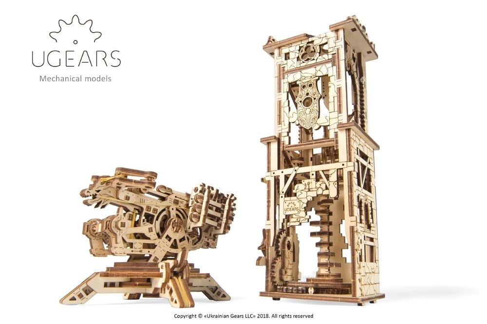 Башня-Аркбаллиста | UGEARS | Механический 3D конструктор из дерева