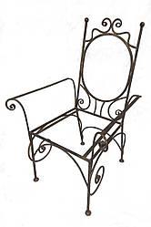 Кованое кресло с подлокотниками каркас