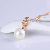 Ожерелье с жемчужной подвеской (41642).