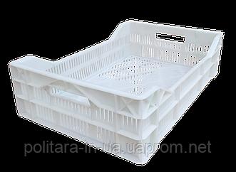 Ящики перфорированный для заморозки мясной продукции  600х400х150/110 белые