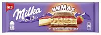 Milka mmMax Strawberry Cheesecake-молочный шоколад со вкусом чизкейка, клубникой и печеньем, 300 гр Швейцария