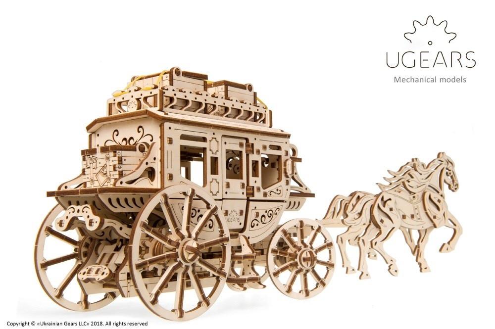 Почтовый дилижанс   UGEARS   Механический 3D конструктор из дерева