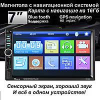 """Автомагнітола 2DIN 7"""" Pioneer 7018G , GPS, USB, AUX"""