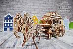 Почтовый дилижанс   UGEARS   Механический 3D конструктор из дерева, фото 3