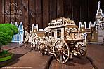 Почтовый дилижанс   UGEARS   Механический 3D конструктор из дерева, фото 4