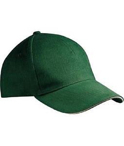 "Бейсболка ""Хлопок"" Тёмно-Зелёный / Бежевый"