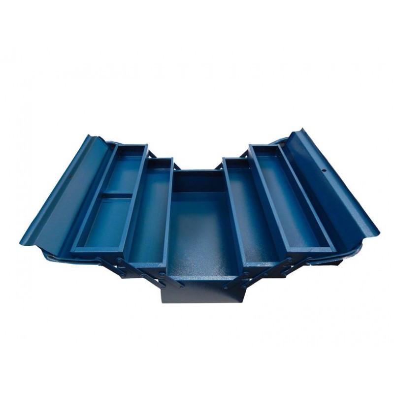 Ящик инструментальный складной, 5 отделений (415х235х200мм-габариты, 410х95х45мм-4полки, 410х200х100-1полка)