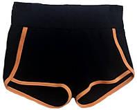 Шорты VK с окантовкой 38р. хл.92% лайкра 8%  черный + оранжевый