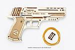 Пистолет Вольф-01 | UGEARS | Механический 3D конструктор из дерева, фото 4