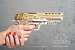 Пистолет Вольф-01 | UGEARS | Механический 3D конструктор из дерева, фото 6