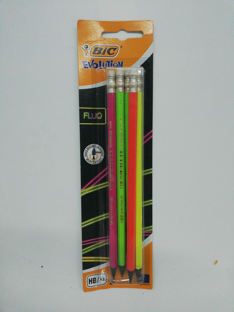 Графитовые карандаши с резинкой ,5шт.