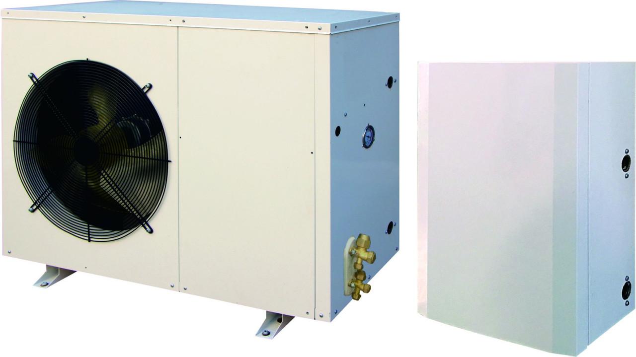 Тепловой насос инвертор TEPLOMIR EVIDC10 split  воздух-вода 10,2кВт
