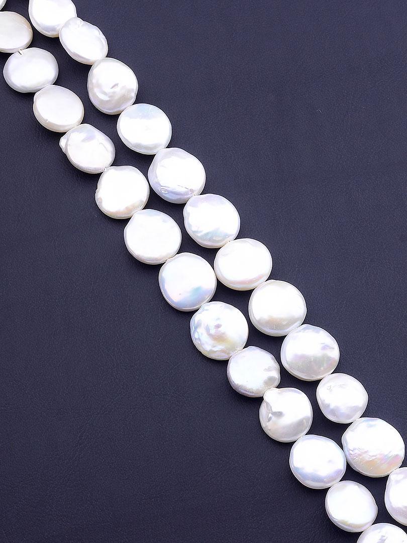 Заготовка для бус и браслетов нить из натурального камня Жемчуг 40 см  сертификаты на камни