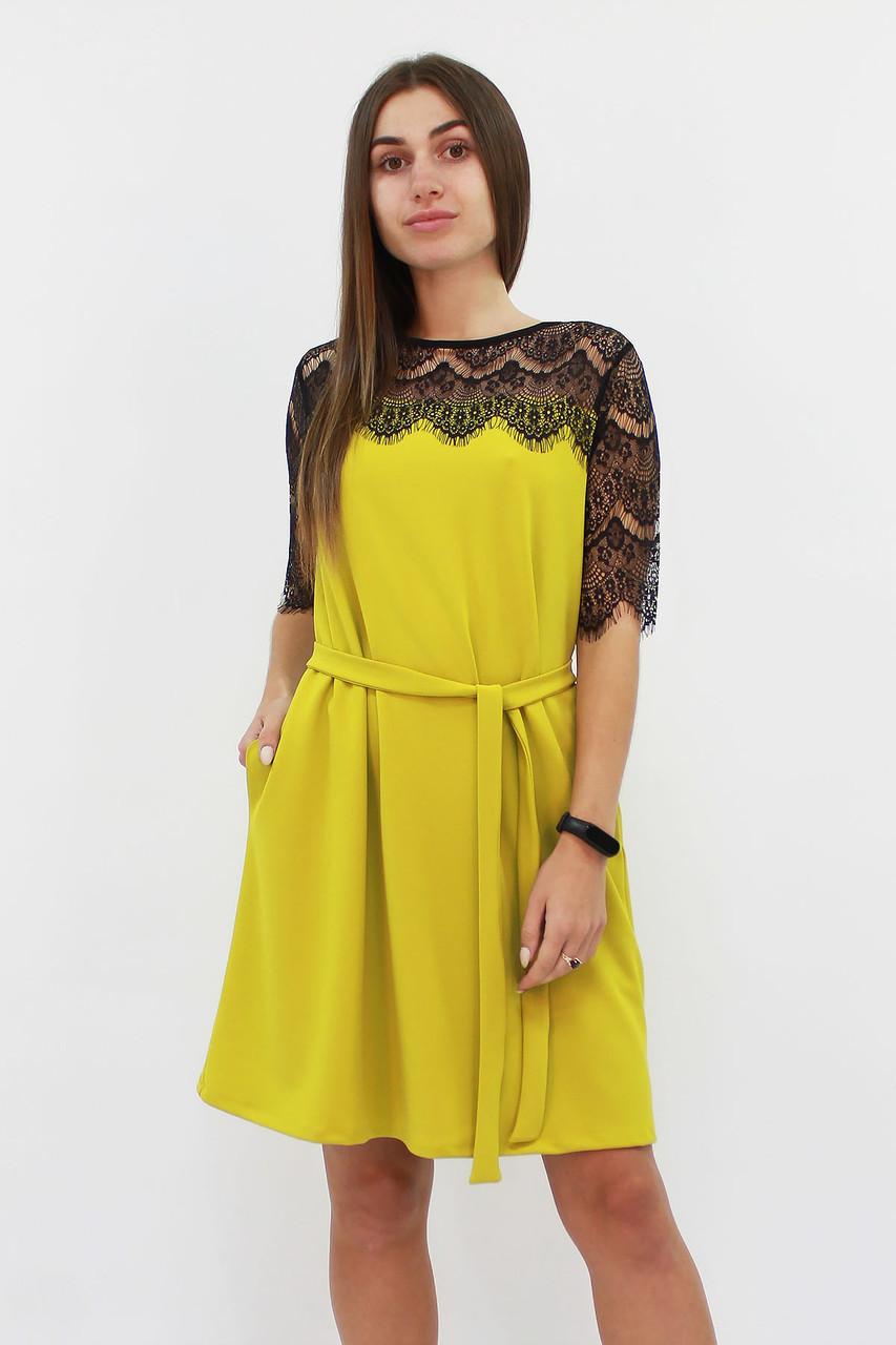 S, M, L / Коктейльне жіноче плаття Arizona, гірчиця