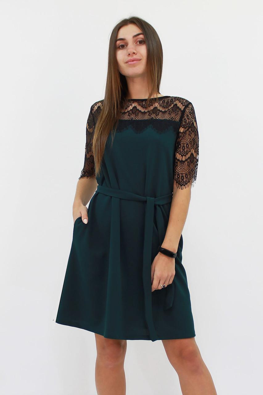 S, M, L / Коктейльне жіноче плаття Arizona, темно-зелений