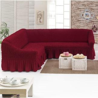 Чехол на угловой диван +1 кресло Golden Люкс бордо
