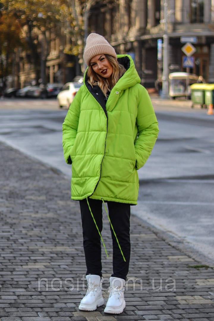 Двухсторонняя куртка батал с капюшоном, 3 цвета  🌺 🌺 🌺