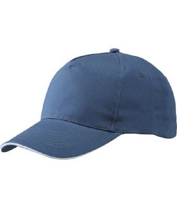Бейсболка річна Темно-Синій / Білий