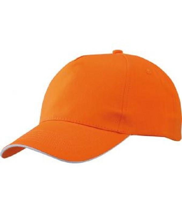 Бейсболка річна Оранжевий / Білий