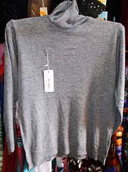 Гольф женский шерстяной отличное качество №6677 размер 48-56 серый