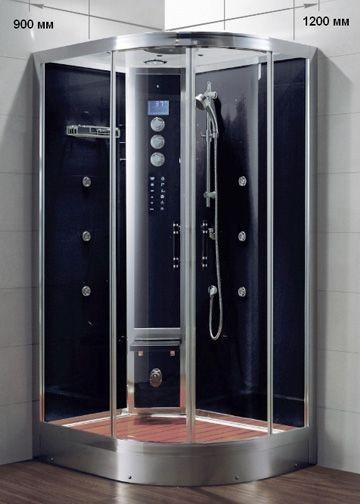 Гидромассажный бокс Grandehome WS103L/S6 левосторонний (чёрные задние стенки), 1200х900х2240 мм