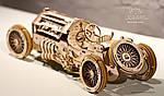 Спорткар U-9 Гран-при | UGEARS | Механический 3D конструктор из дерева, фото 2