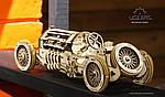 Спорткар U-9 Гран-при | UGEARS | Механический 3D конструктор из дерева, фото 3