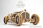 Спорткар U-9 Гран-при | UGEARS | Механический 3D конструктор из дерева, фото 5