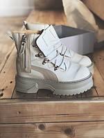 """Женские зимние ботинки Puma Rihanna Fenty Boots """"White"""" ( в стиле Пума )"""