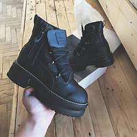 """Женские зимние ботинки Puma Rihanna Fenty Boots """"Black"""" ( в стиле Пума )"""